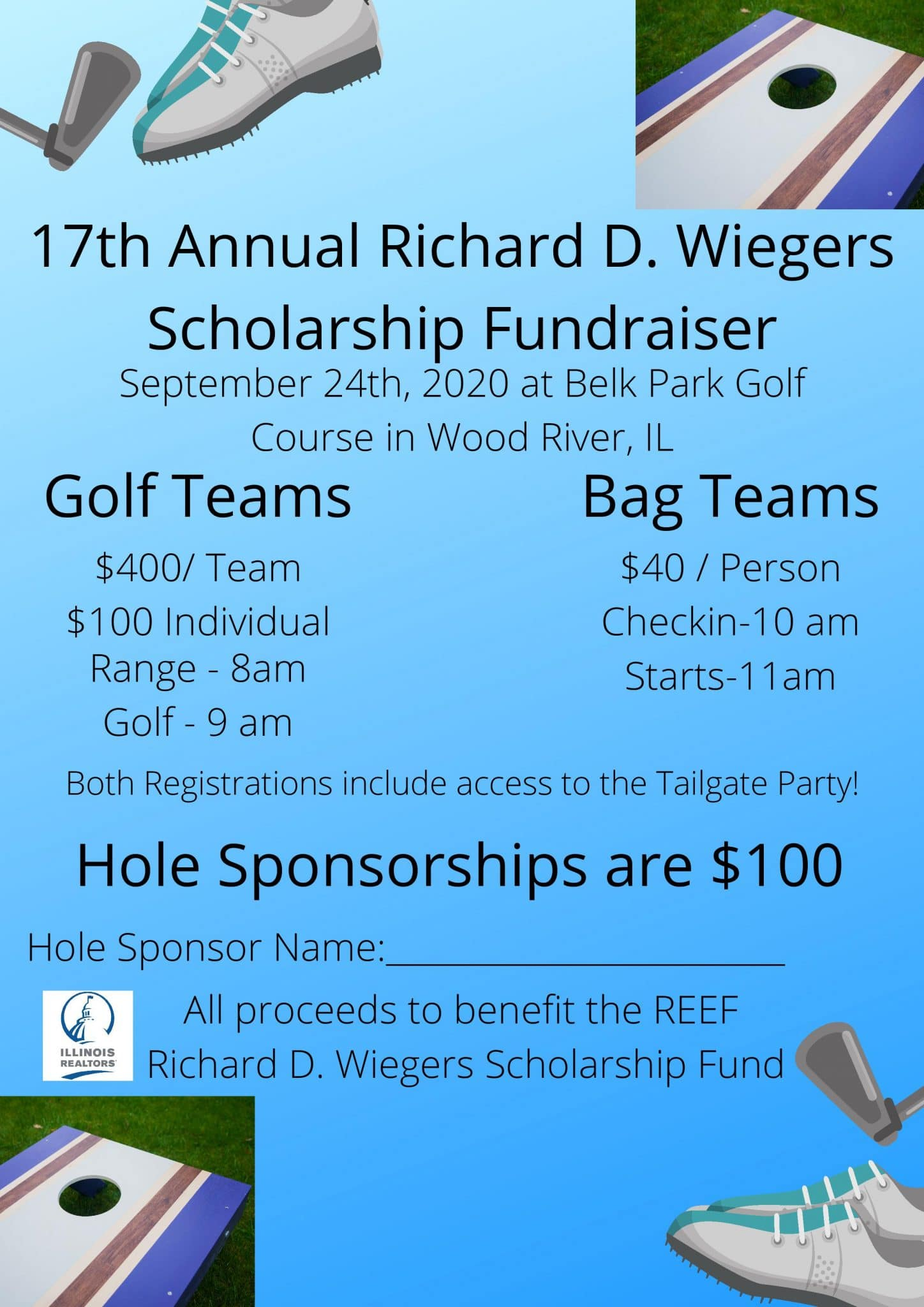 17th Annual Richard D. Wiegers Scholarship Fundraiser
